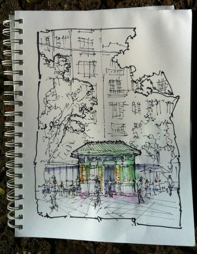 Sketching @ Plaza de Armas