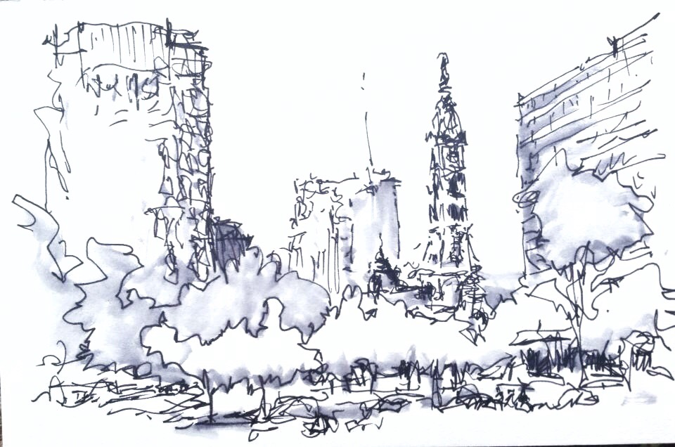 Sketching With Watersoluble Ink